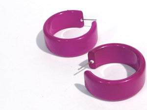 bright purple hoops