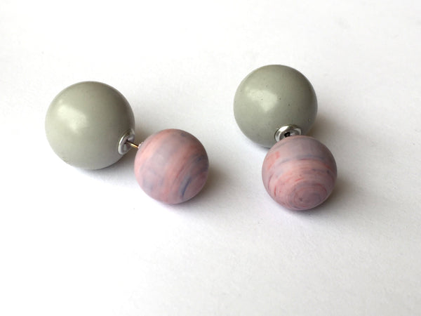 light purple 2 sided earrings