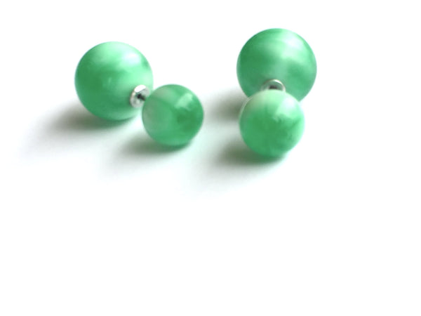 emerald 2 sided studs