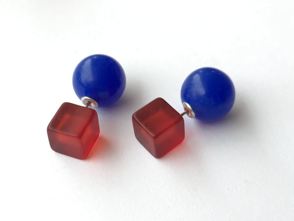 red blue 2 sided studs