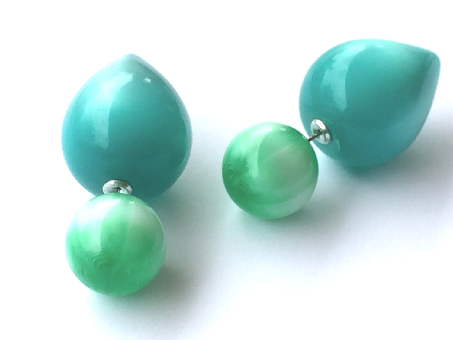 green 360 earrings