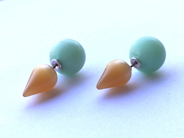 lucite studs double sided