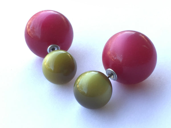 olive moonglow 360 earrings