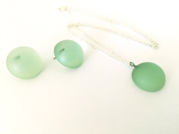frosted green lucite necklace
