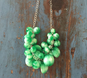 emerald green moonglow necklace