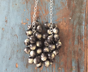 black white statement necklace