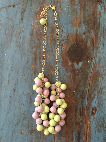 frosted pastel necklace