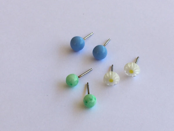 tiny lucite earrings