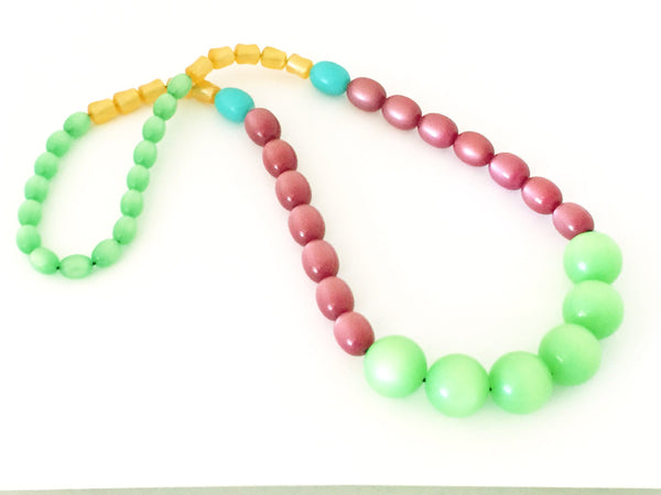 moonglow lucite beaded necklace
