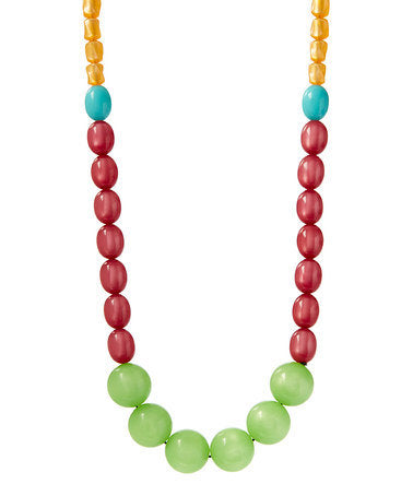 "Citrus Fiesta vintage lucite statement necklace - from ""Life is an Adventure"" series"