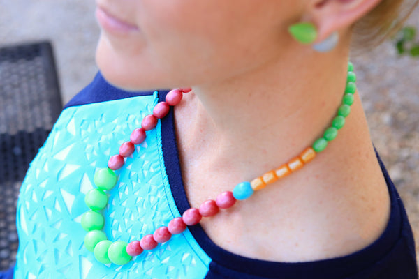 lucite statement necklace citrus