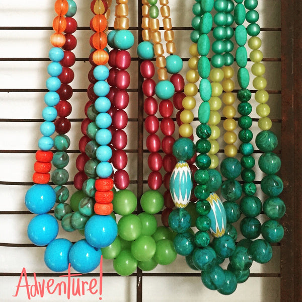 vintage lucite stretch necklaces