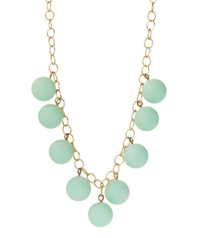 mint green bubble necklace