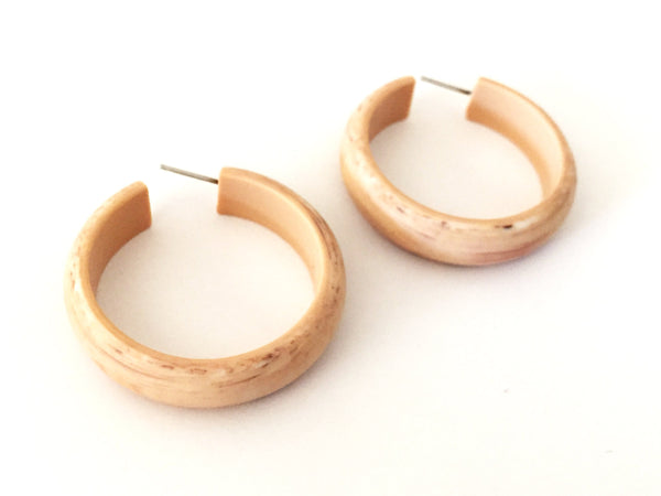 big marbled hoops beige
