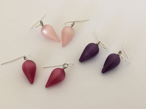 lucite plumbob earrings