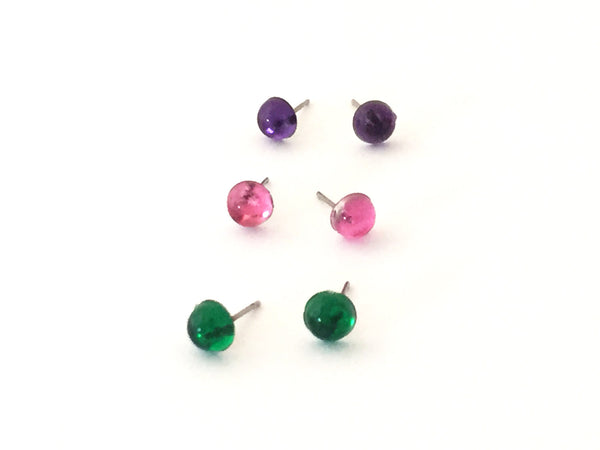 bling lucite studs