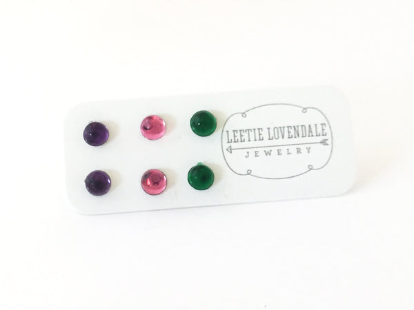 tiny lucite bling studs