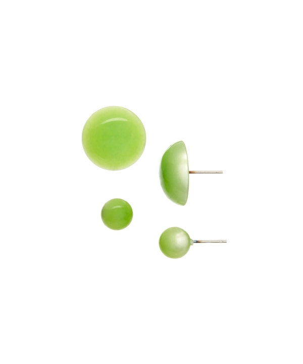 lime green moonglow earrings set