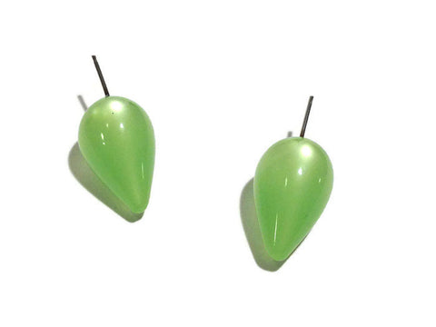 lime green spike studs