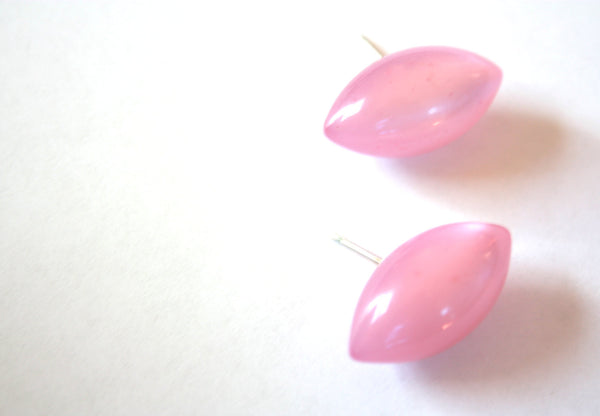pink moonglow pod earrings