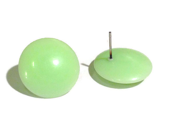 mint green stud earrings