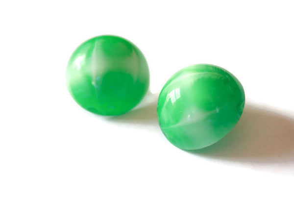 green moonglow studs