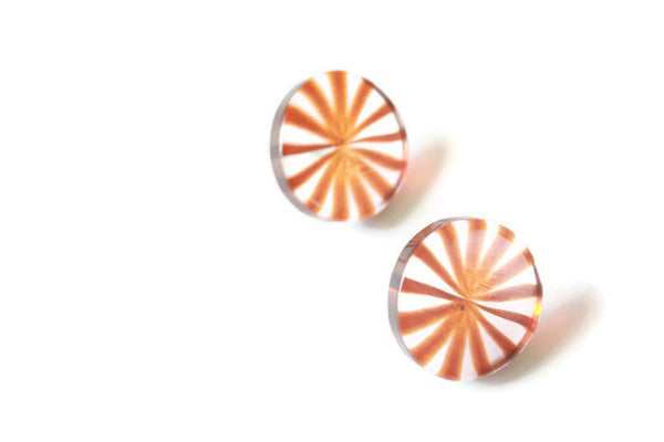 sunburst tortoise earrings