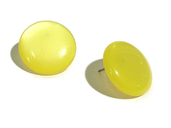 bright yellow moonglow studs