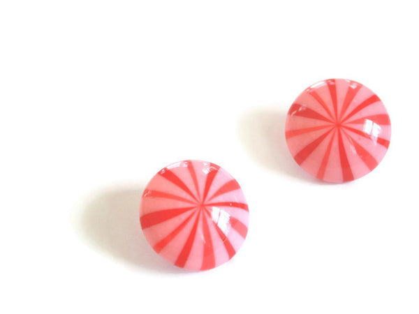 candy cane post earrings