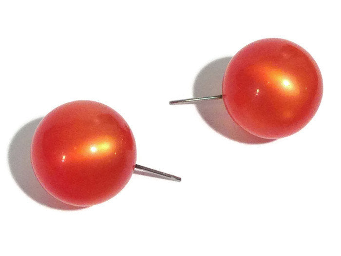 orange moonglow studs