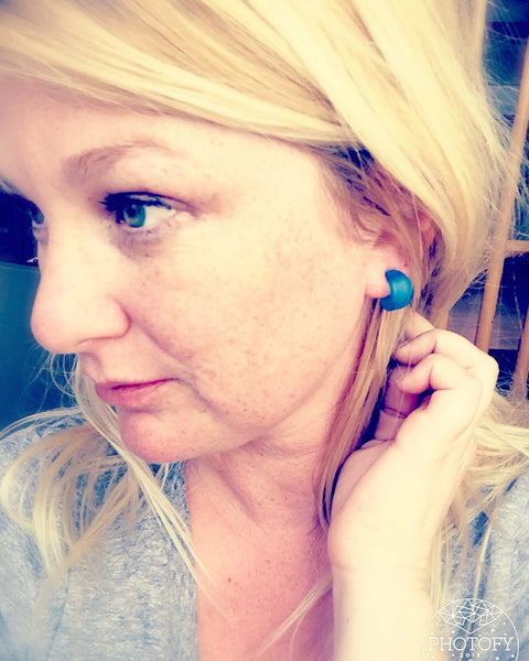 tiny hoops turquoise