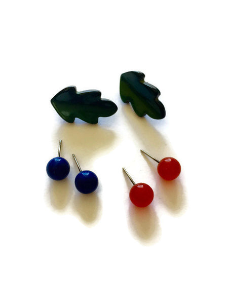 vintage lucite studs collection