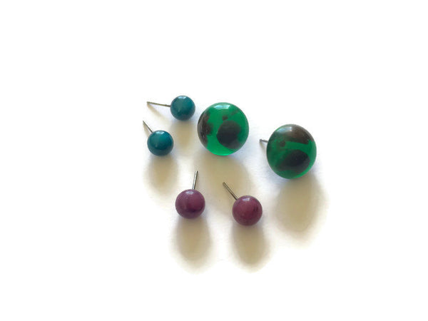 gem tone earring collection