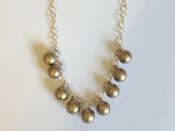 frosted gold statement necklace