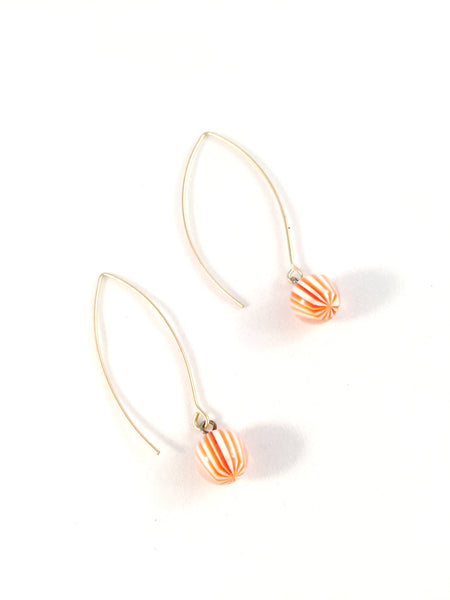orange stripe earrings