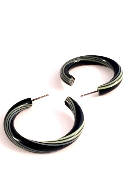 black striped hoops