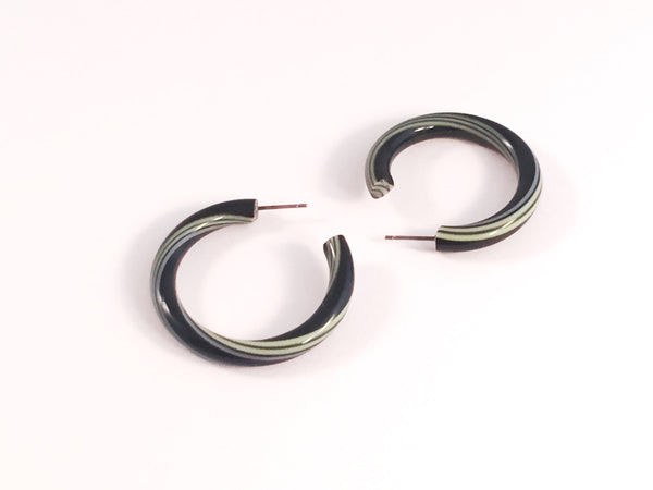 black stripe tube hoops