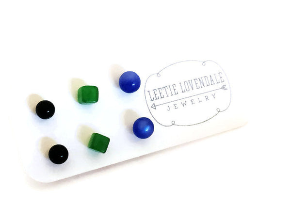 vintage lucite studs gift card