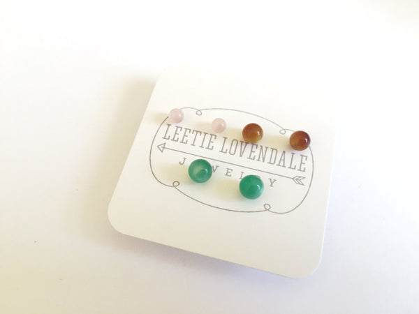 sustainable lucite studs