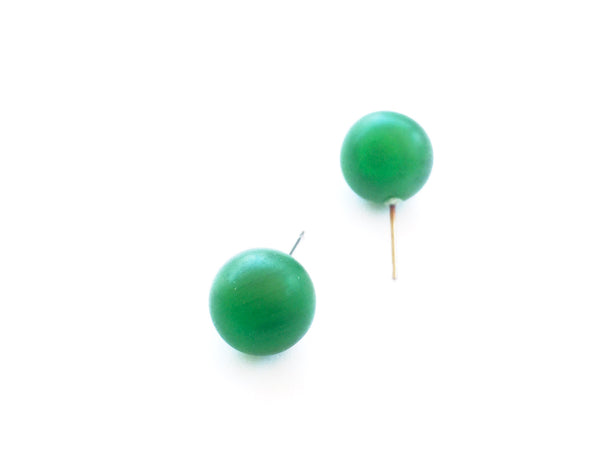 green frosted earrings