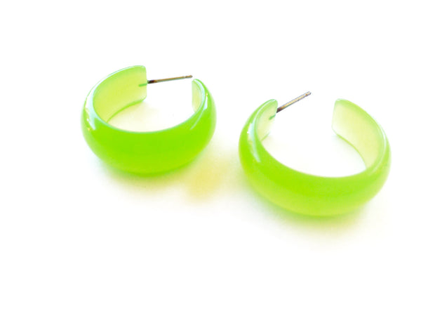 bright green moonglow hoops