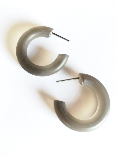 vintage grey earrings