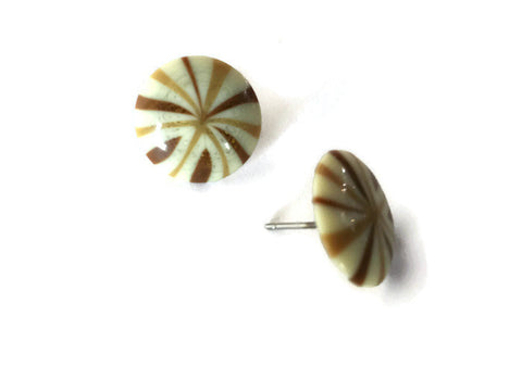 tan brown stud earrings