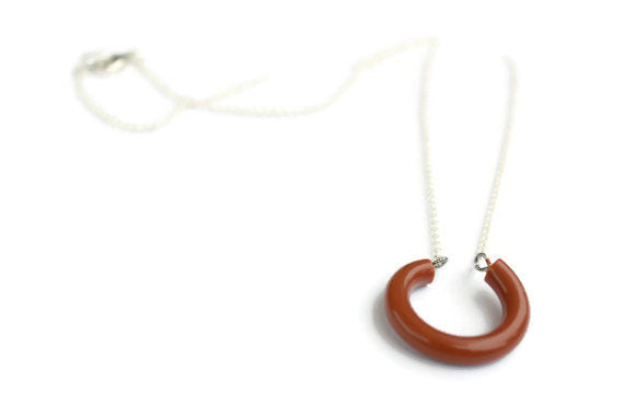 lucky hoop pendant necklace