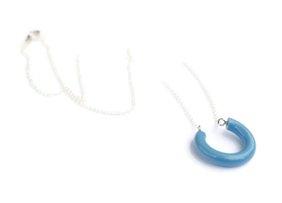 blue lucky necklace