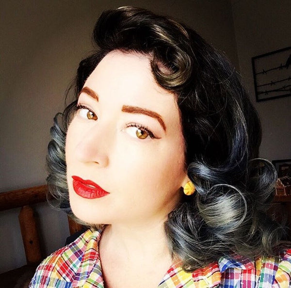 retro lady earrings