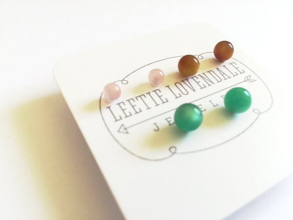 tiny stud earrings set