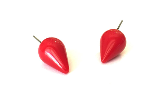 cherry red spike studs