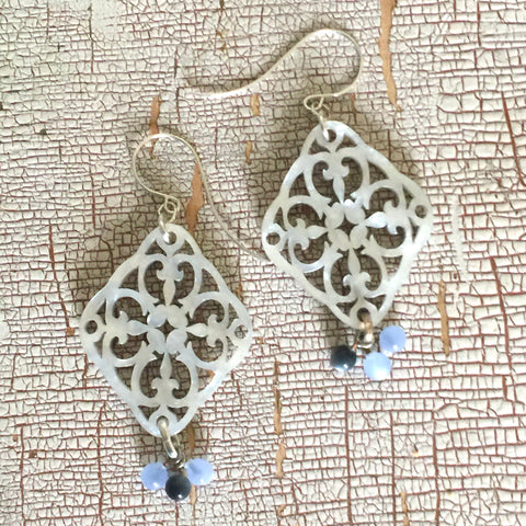 Silver Glow Bohemian Lace Cluster Earrings - As Seen on Jane the Virgin