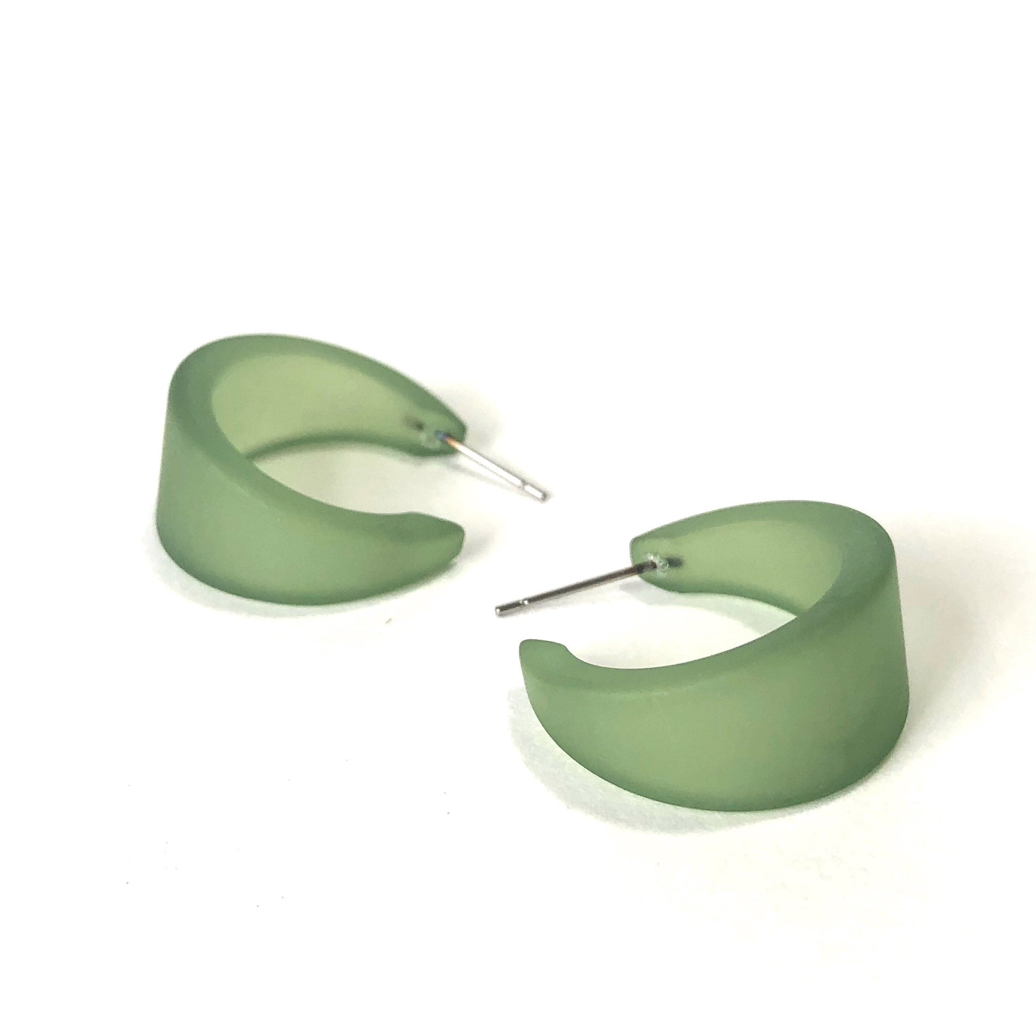green earrings hoops